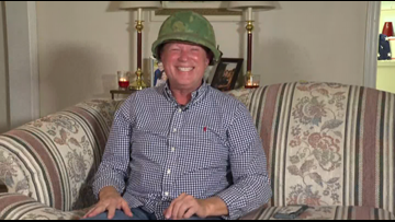 'It still fits!' | NC Veteran gets back long lost army helmet for Christmas