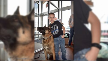 9-year-old Strongsville boy is on mission to donate bulletproofvests to police K-9s across Ohio
