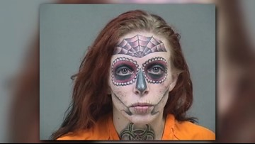 Woman with unique face tattoos faces new charges in Boardman