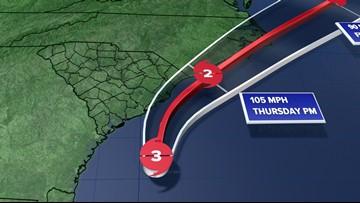 Now a Category 3 storm, Hurricane Dorian tracking closer to