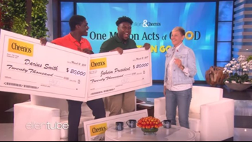 Ellen DeGeneres surprises two SC high school students with full rides to college