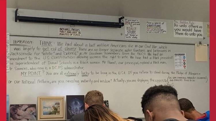 Teacher pledge of allegiance rant at First Coast High School
