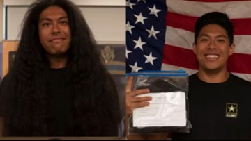 Man cuts hair after 15 years to join the Army, donates it to Locks of Love
