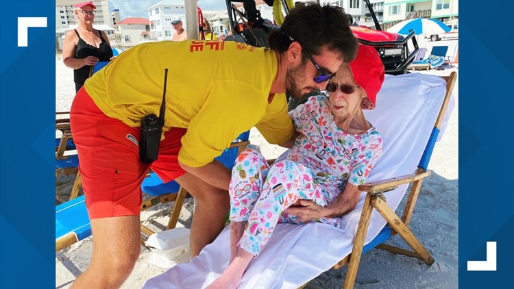 Lifeguards go above and beyond to help 95-year-old woman enjoy the beach