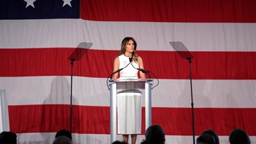 First lady Melania Trump honored by Christian college