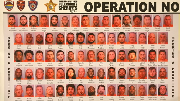 154 people arrested in human trafficking, prostitution sting in Florida