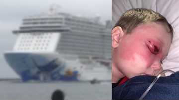 Back on land: Florida family once stuck on a cruise ship without passports, a sick child