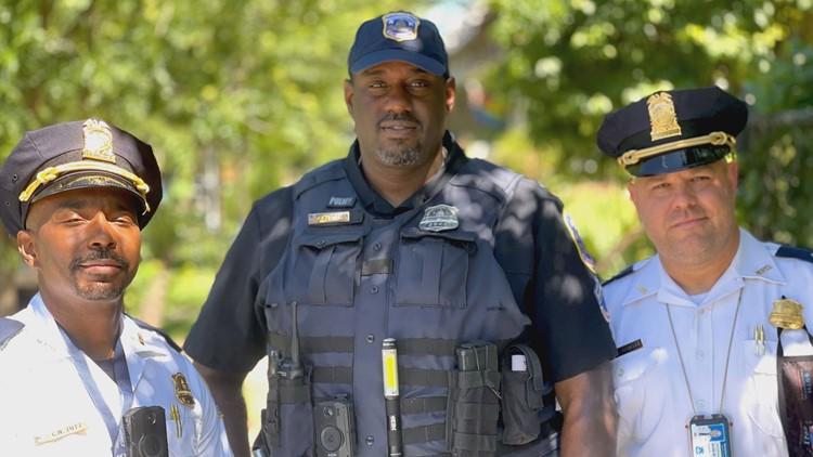 DC police walk