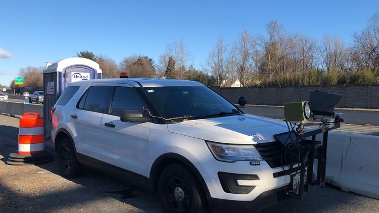 Speed camera hidden behind Porta Potty on Maryland highway will start issuing citations