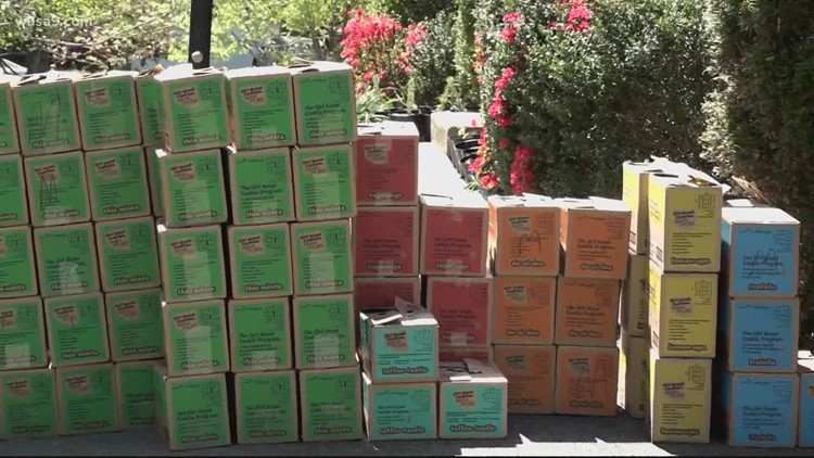 Virginia Girl Scouts donate cookies to blue star families