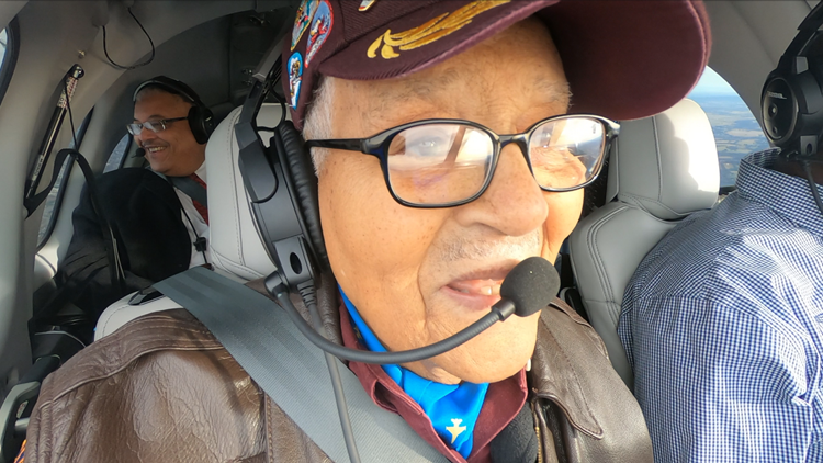 Col. Charles McGee celebrated his hundredth birthday in the air.