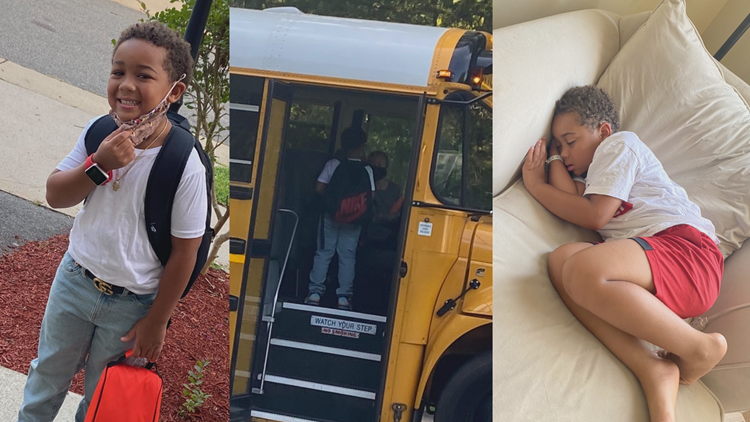 Virginia first-grader passes out after getting off hot bus
