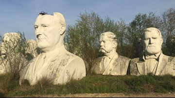 Obama bust from Presidents Park returned