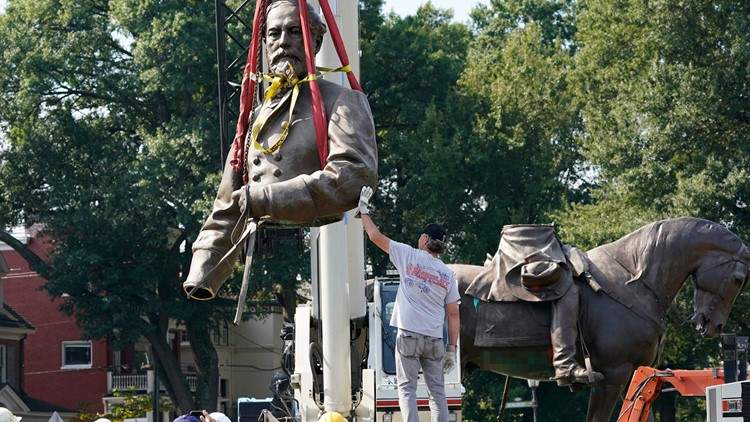 Robert E. Lee statue in Richmond comes down following Virginia Supreme Court ruling