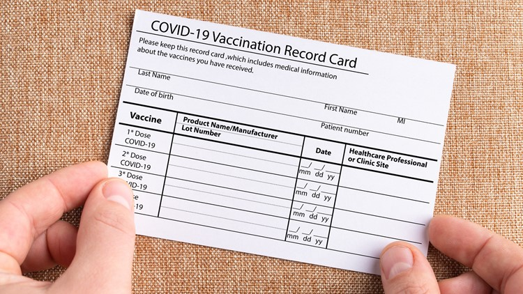 Using a fake COVID vaccine card can be a federal crime with up to 5 years in prison