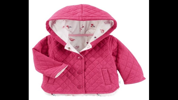 The jackets were sold at OshKosh, Bon-Ton, Kohl's, Fred Meyer and other retail department stores nationwide between August 2017 and September 2017.