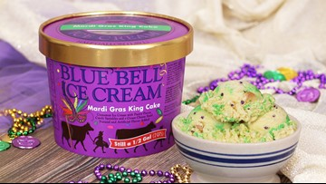 Blue Bell's popular Mardi Gras King Cake ice cream spotted in stores