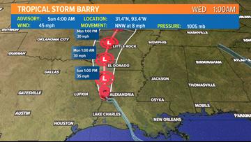 Barry: Path, Spaghetti Models, Live Radar