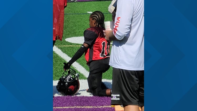 Little league football player in metro Atlanta kneels to support Black Lives Matter movement