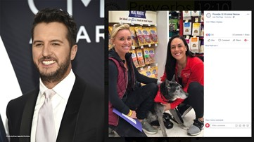 Luke Bryan, wife adopt 18-year-old rescue dog to give him forever home