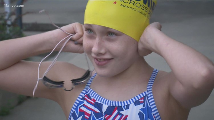 'Amazing Grace' | Mom's swimming tour honors teen daughter who died of cancer