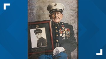 Marine celebrates 100th birthday - he served in WWII, Korea and Vietnam!